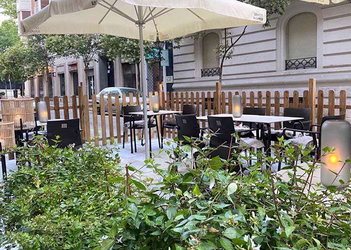 Restaurante con terraza en madrid centro barrio salamanca